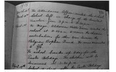 1915 WW1 week 36 Peterwell Infants School Log book