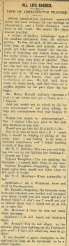 1916 week 83 CTA 3-3-16 All life sacred