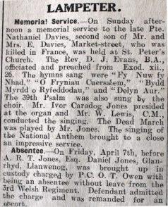 1916 week 89 CN 14-4-16 Lampeter