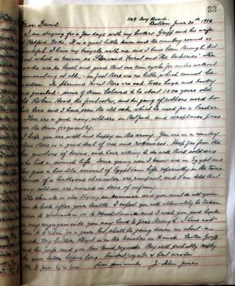 LIB.73.3.7 Letter from Rev Islan Jones (Bolton) to Private David Jones